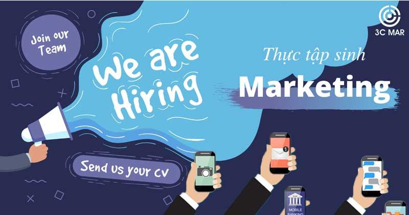 tuyển dụng thực tập sinh marketing 2020